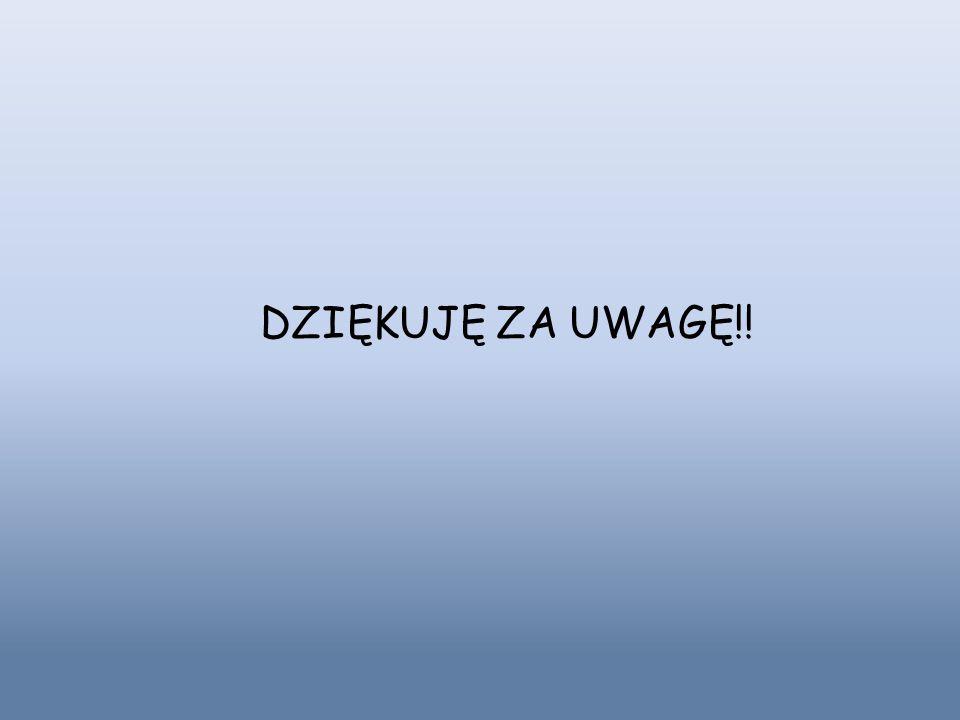DZIĘKUJĘ ZA UWAGĘ!!