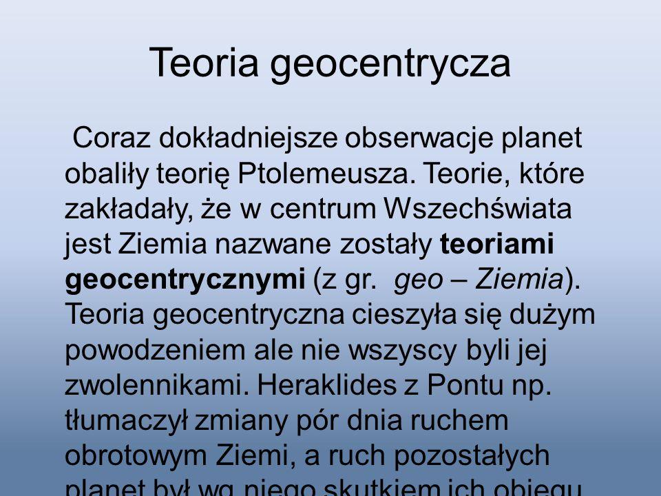 Teoria geocentrycza