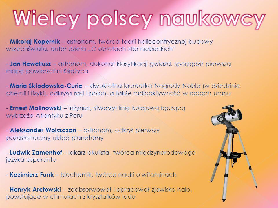 Wielcy polscy naukowcy