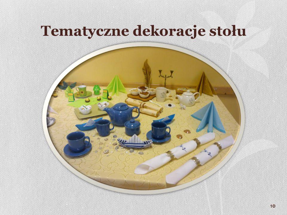 Tematyczne dekoracje stołu