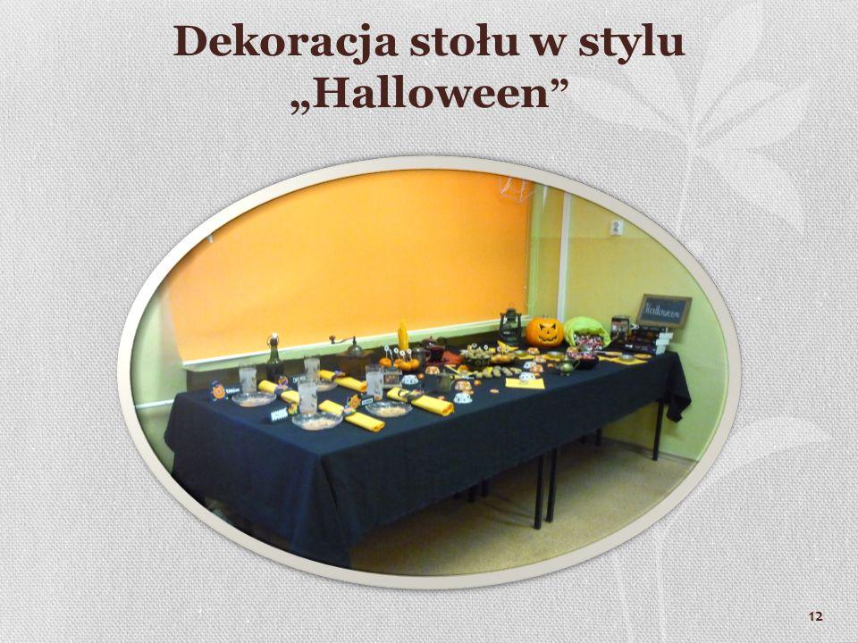 """Dekoracja stołu w stylu """"Halloween"""