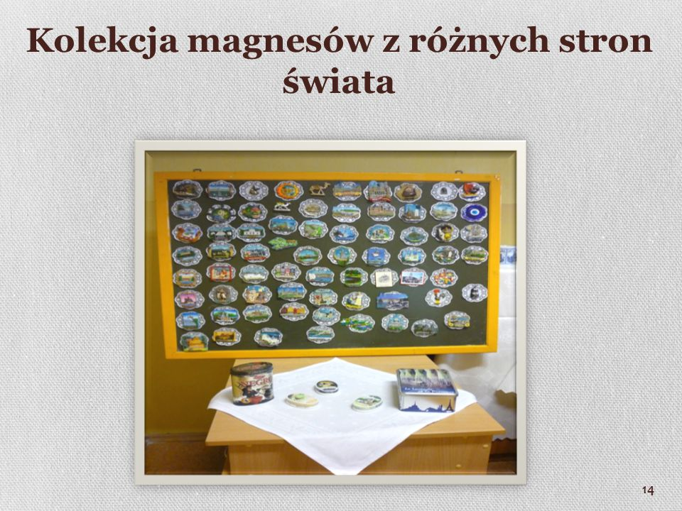 Kolekcja magnesów z różnych stron świata