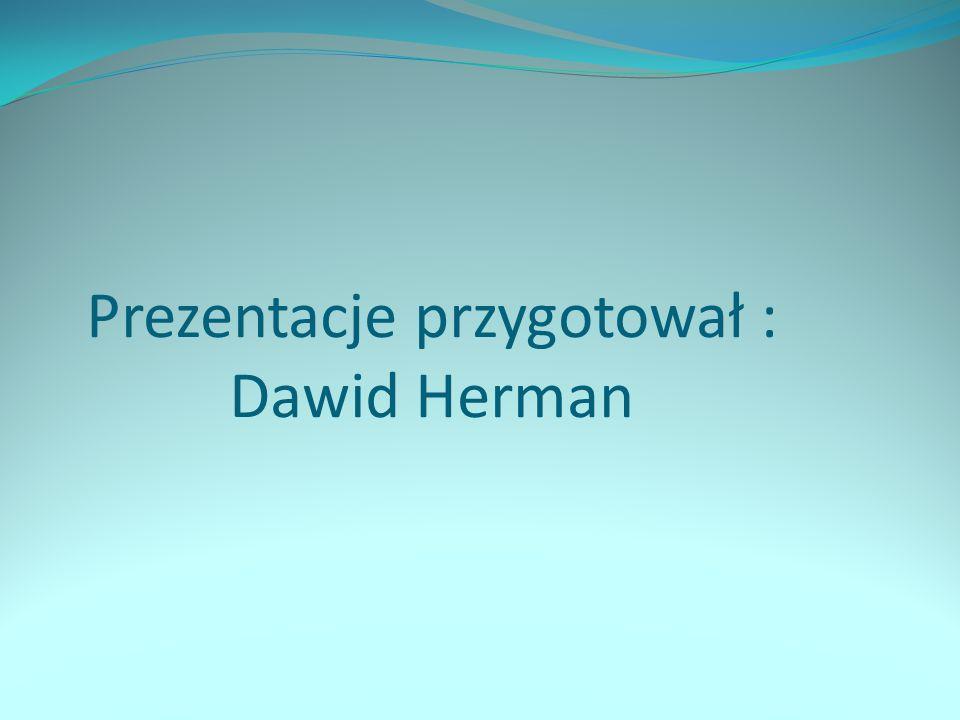 Prezentacje przygotował : Dawid Herman