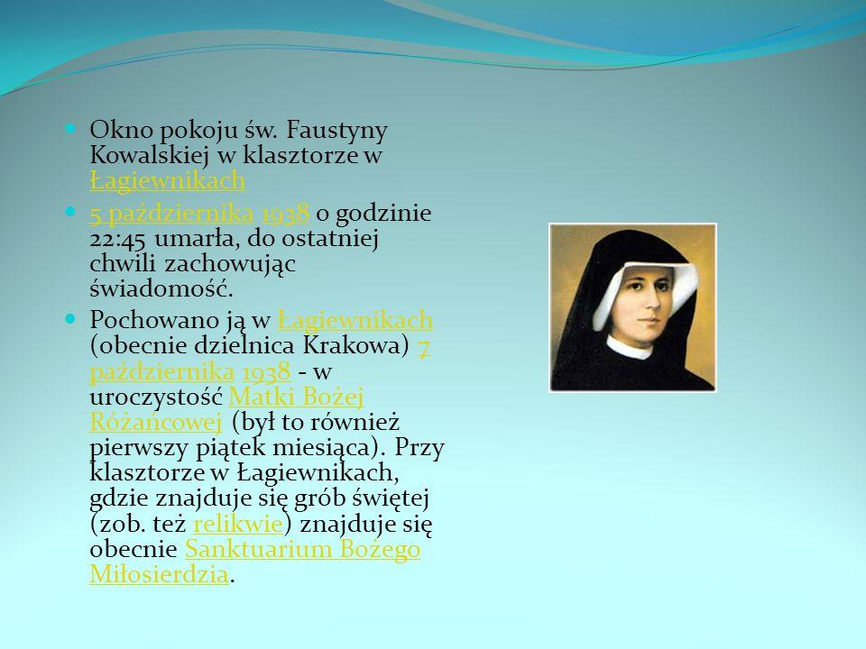 Okno pokoju św. Faustyny Kowalskiej w klasztorze w Łagiewnikach