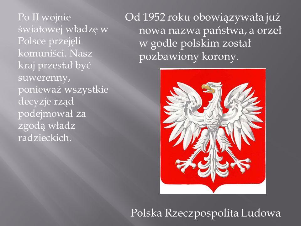 Po II wojnie światowej władzę w Polsce przejęli komuniści