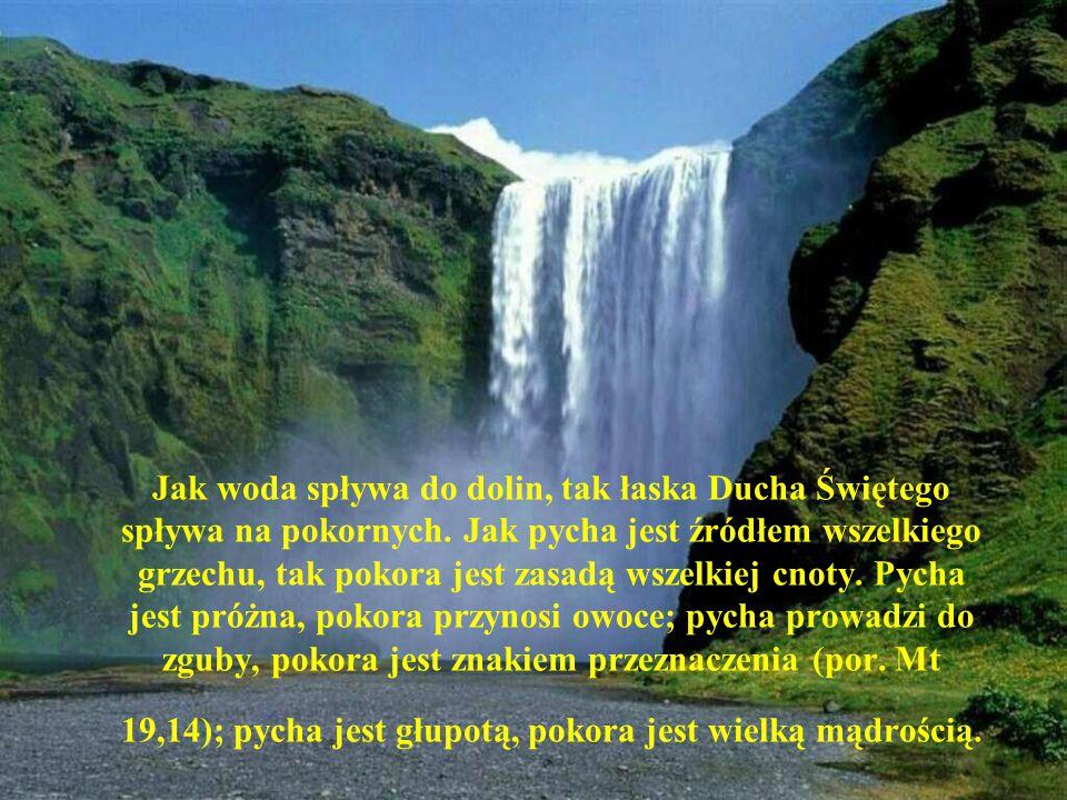 Jak woda spływa do dolin, tak łaska Ducha Świętego spływa na pokornych
