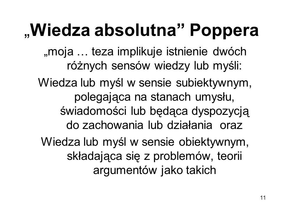 """""""Wiedza absolutna Poppera"""