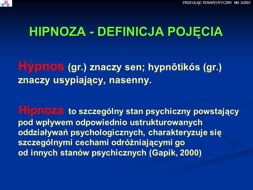 HIPNOZA - DEFINICJA POJĘCIA