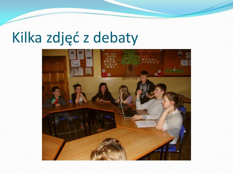 Kilka zdjęć z debaty