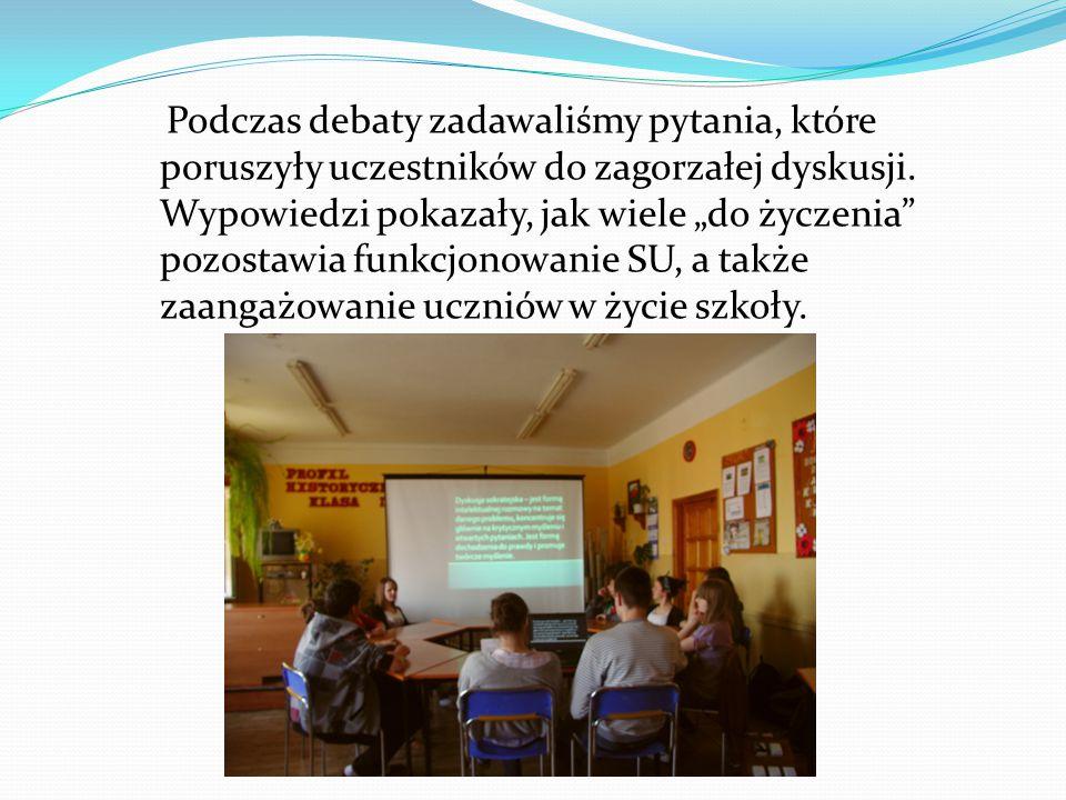 Podczas debaty zadawaliśmy pytania, które poruszyły uczestników do zagorzałej dyskusji.