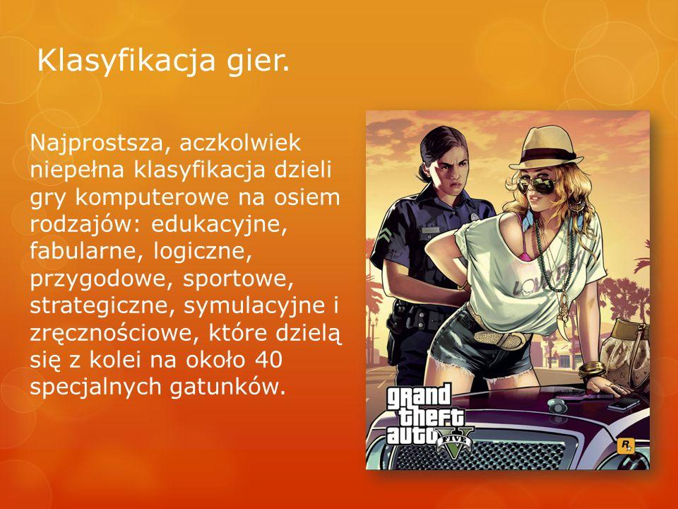 Klasyfikacja gier.