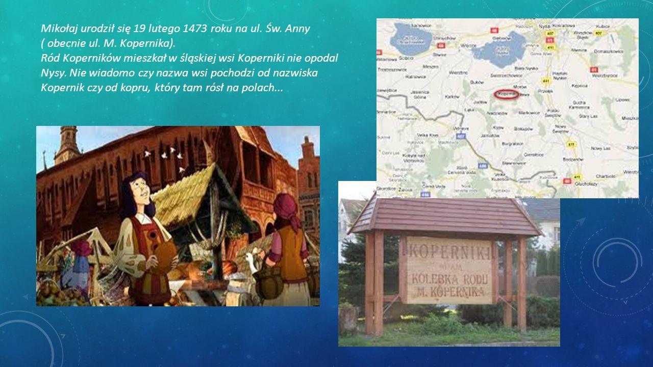 Mikołaj urodził się 19 lutego 1473 roku na ul. Św. Anny