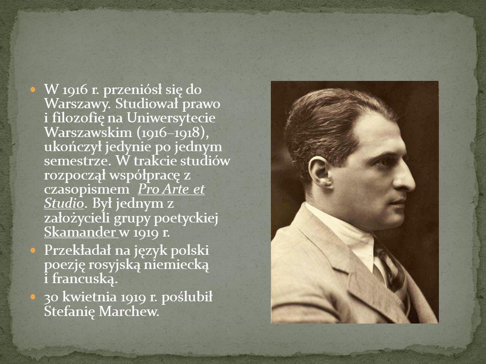W 1916 r. przeniósł się do Warszawy