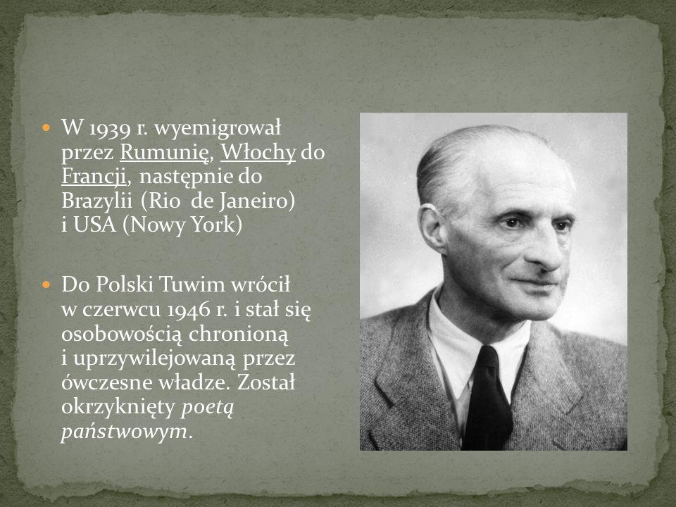 W 1939 r. wyemigrował przez Rumunię, Włochy do Francji, następnie do Brazylii (Rio de Janeiro) i USA (Nowy York)