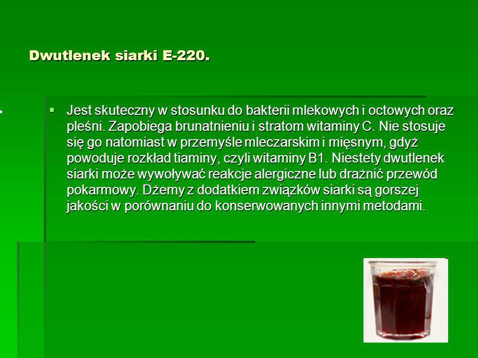 Dwutlenek siarki E-220.