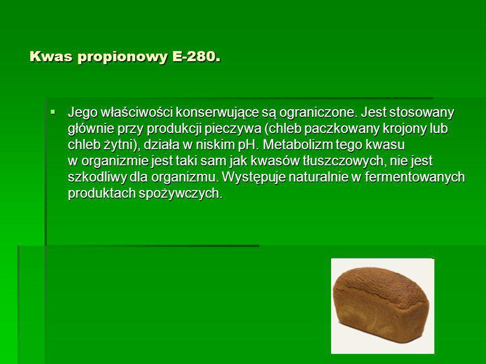 Kwas propionowy E-280.