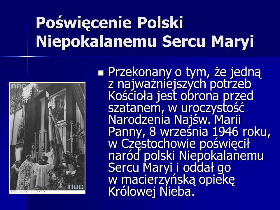 Poświęcenie Polski Niepokalanemu Sercu Maryi