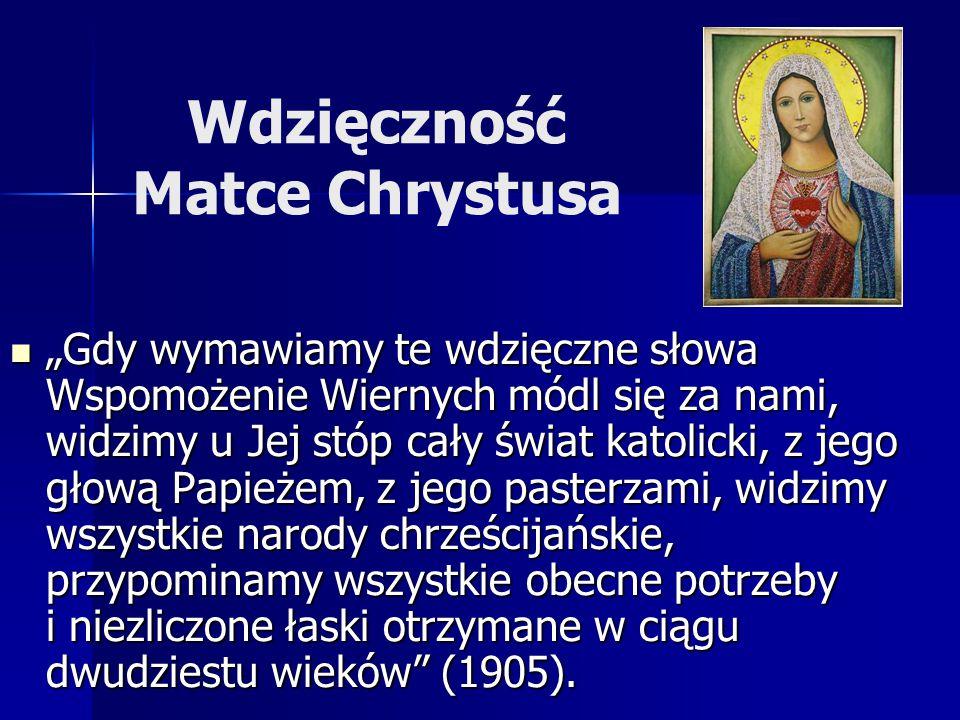 Wdzięczność Matce Chrystusa