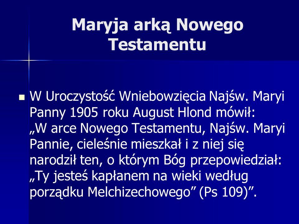 Maryja arką Nowego Testamentu