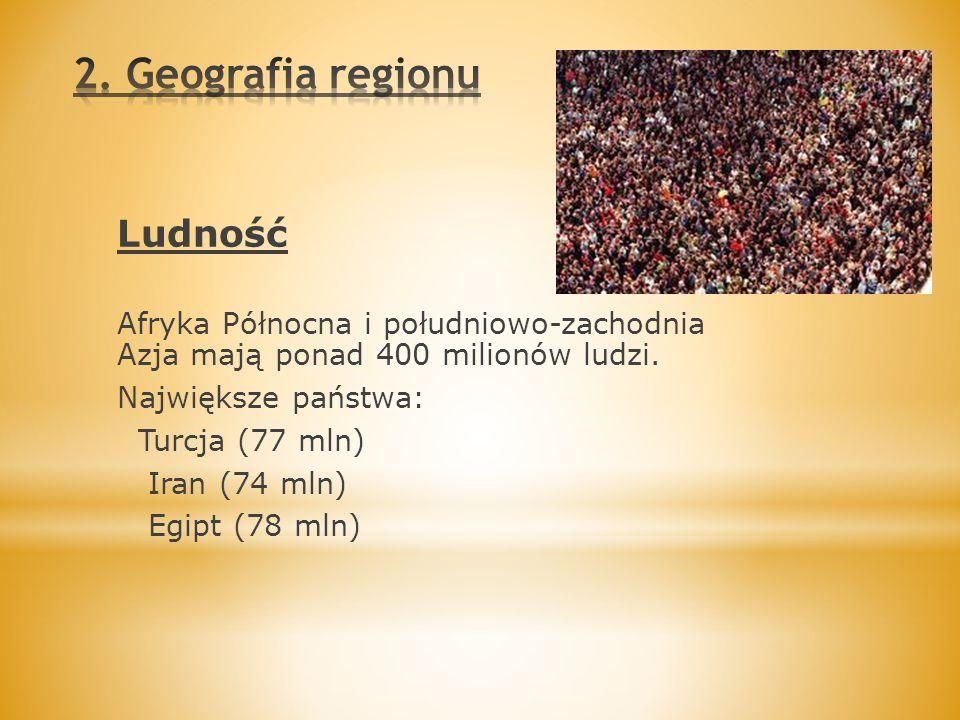 2. Geografia regionu Ludność