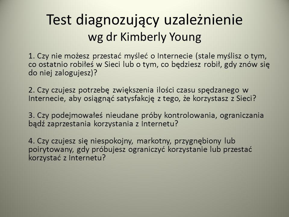 Test diagnozujący uzależnienie wg dr Kimberly Young