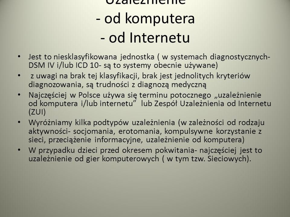 Uzależnienie - od komputera - od Internetu