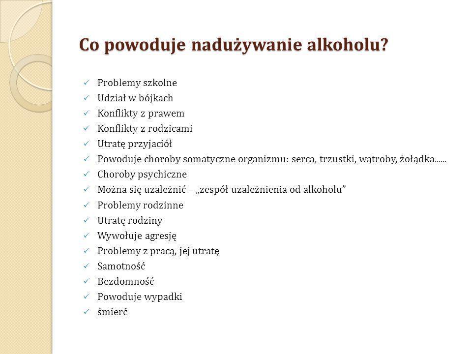 Co powoduje nadużywanie alkoholu