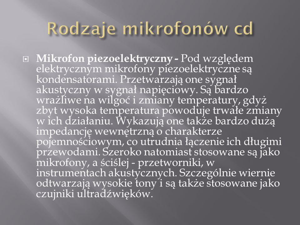 Rodzaje mikrofonów cd