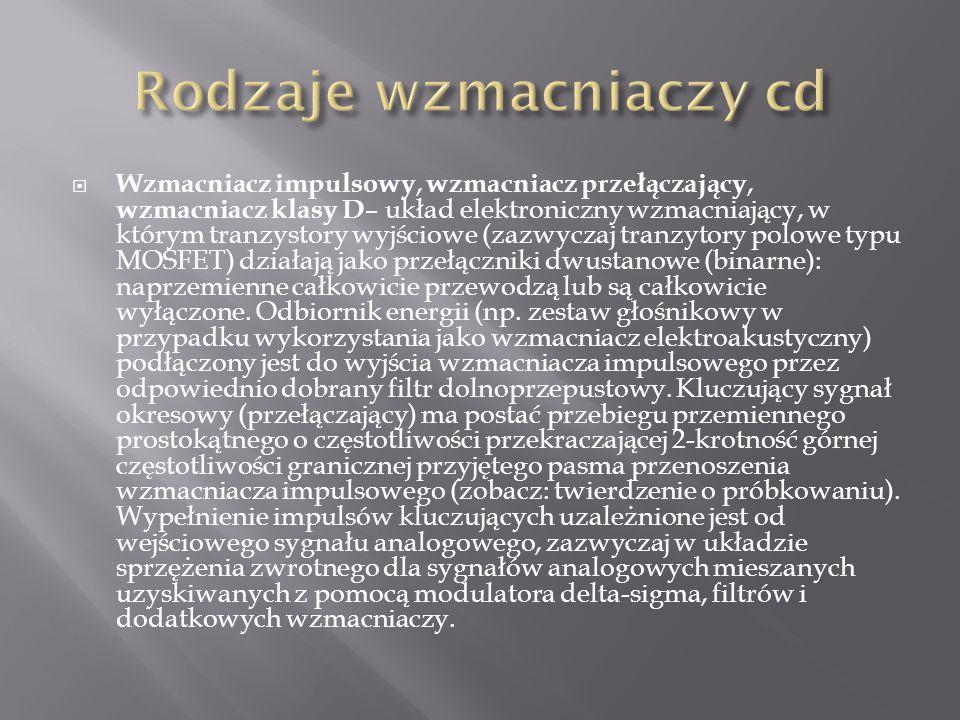 Rodzaje wzmacniaczy cd