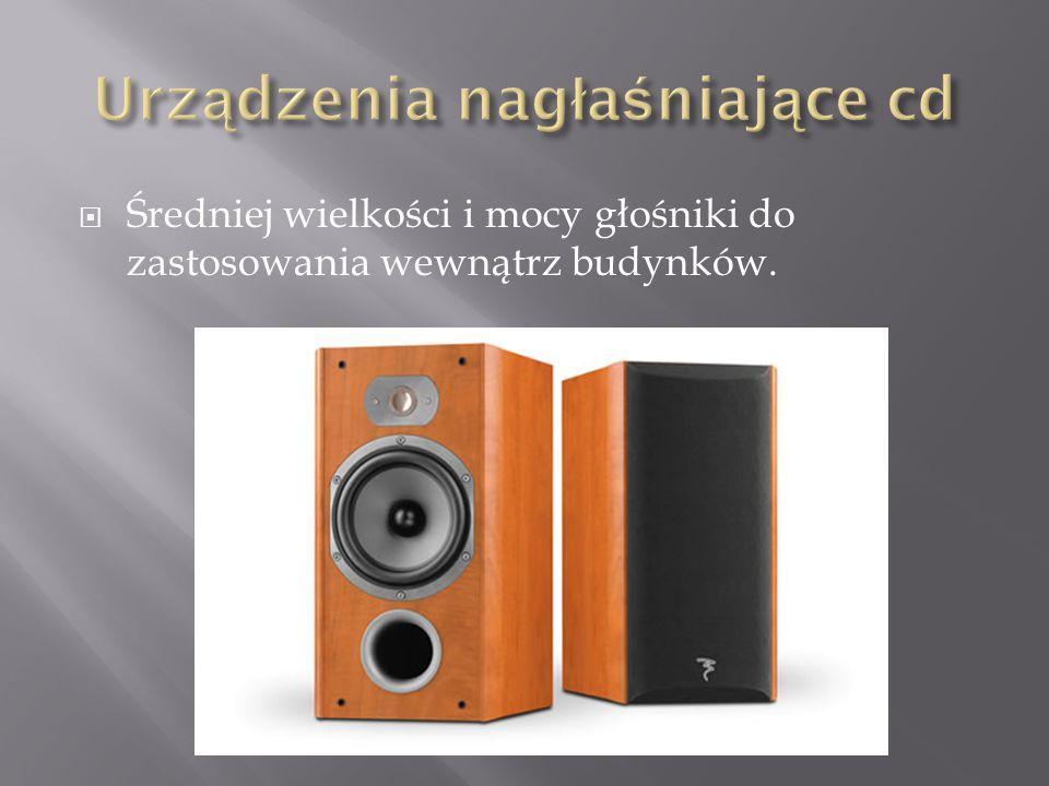 Urządzenia nagłaśniające cd