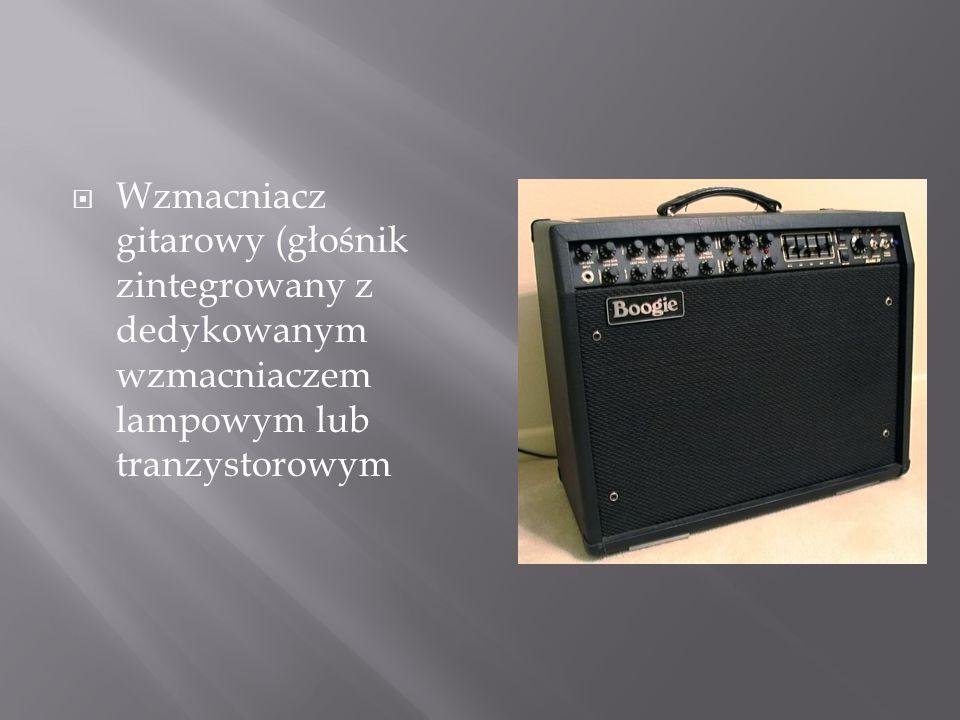 Wzmacniacz gitarowy (głośnik zintegrowany z dedykowanym wzmacniaczem lampowym lub tranzystorowym