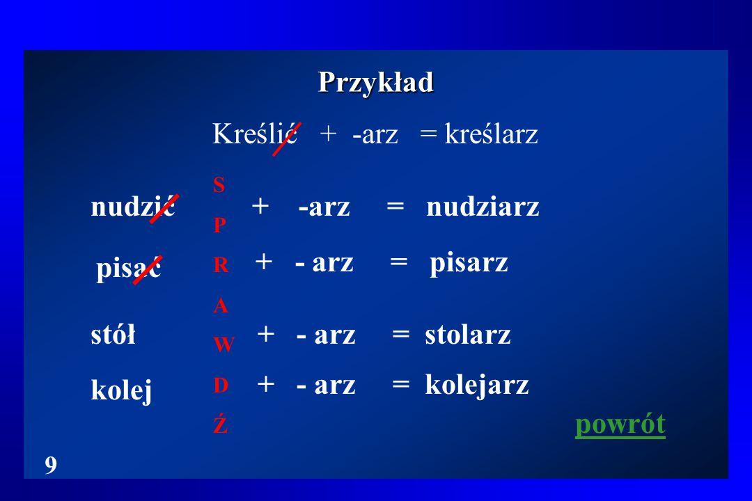 Kreślić + -arz = kreślarz