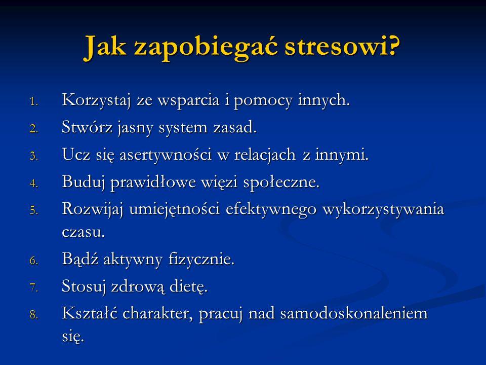 Jak zapobiegać stresowi
