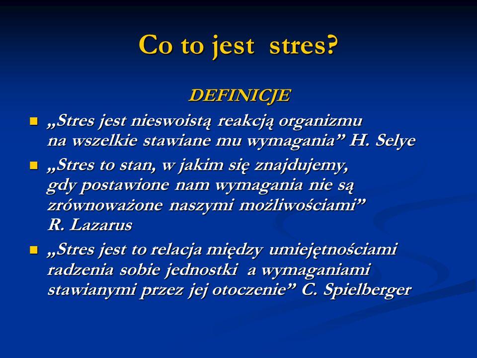 Co to jest stres DEFINICJE