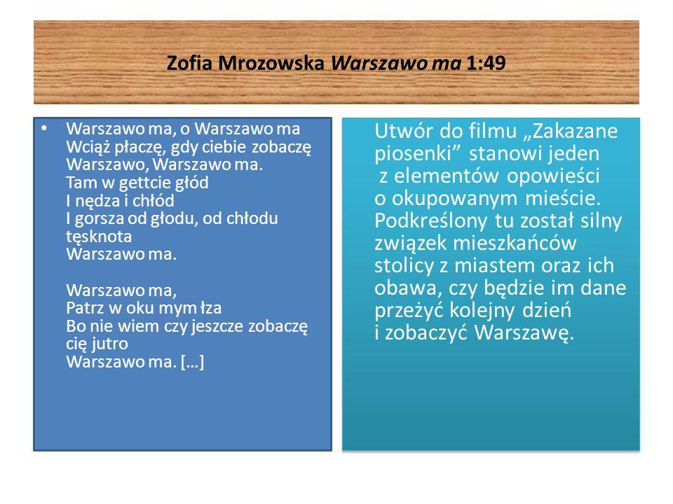 Zofia Mrozowska Warszawo ma 1:49