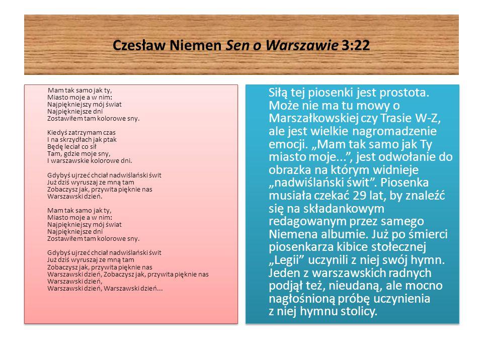 Czesław Niemen Sen o Warszawie 3:22