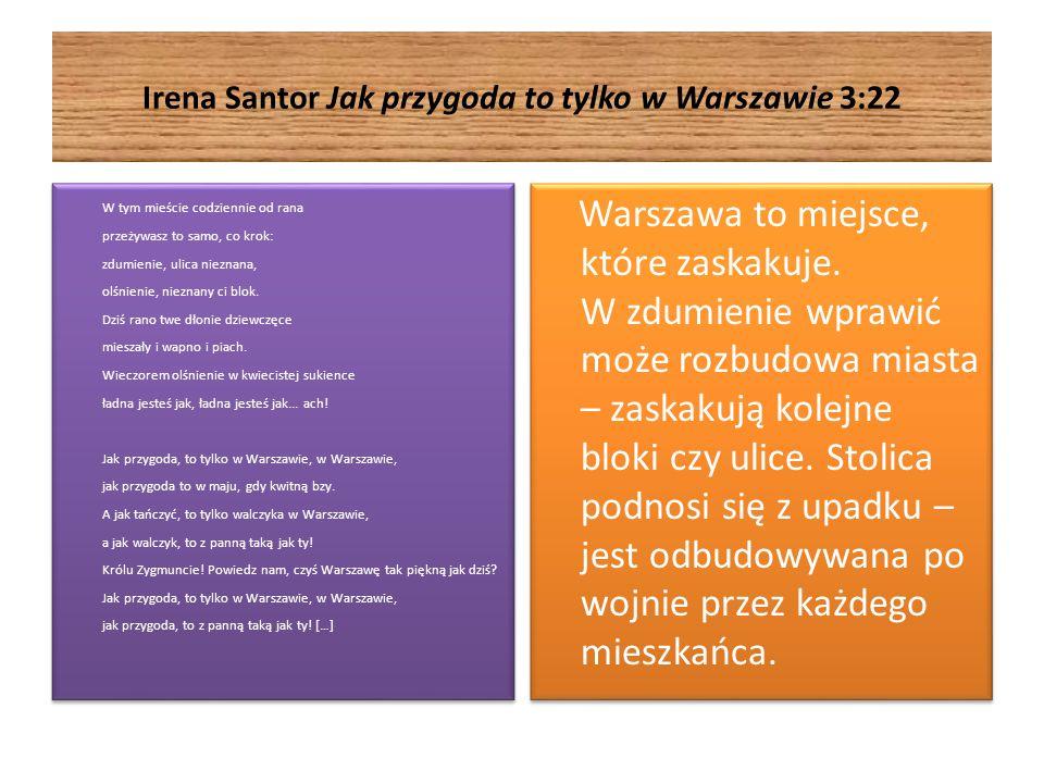 Irena Santor Jak przygoda to tylko w Warszawie 3:22