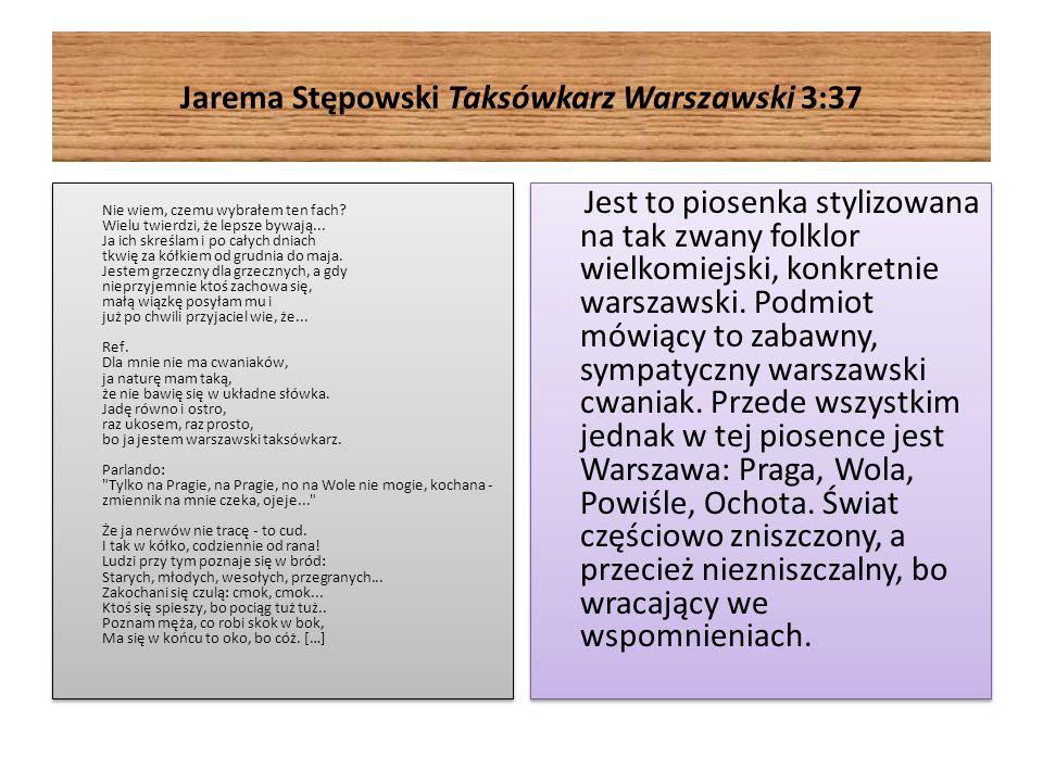 Jarema Stępowski Taksówkarz Warszawski 3:37