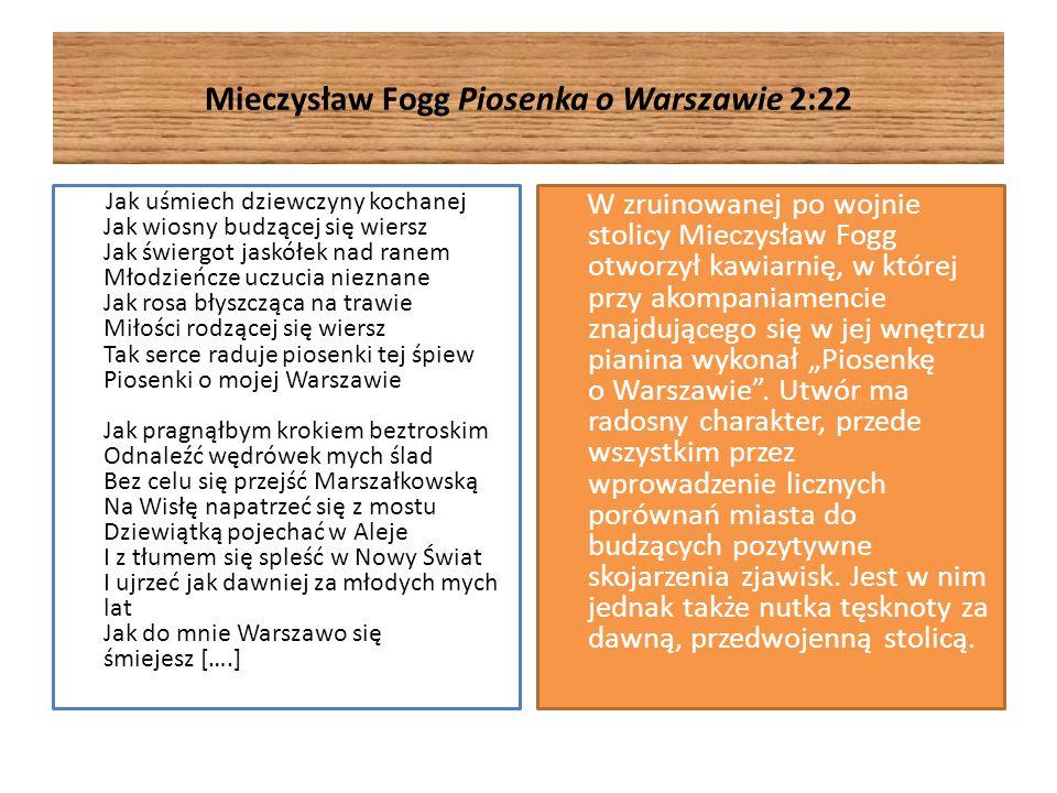 Mieczysław Fogg Piosenka o Warszawie 2:22