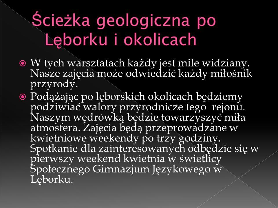 Ścieżka geologiczna po Lęborku i okolicach