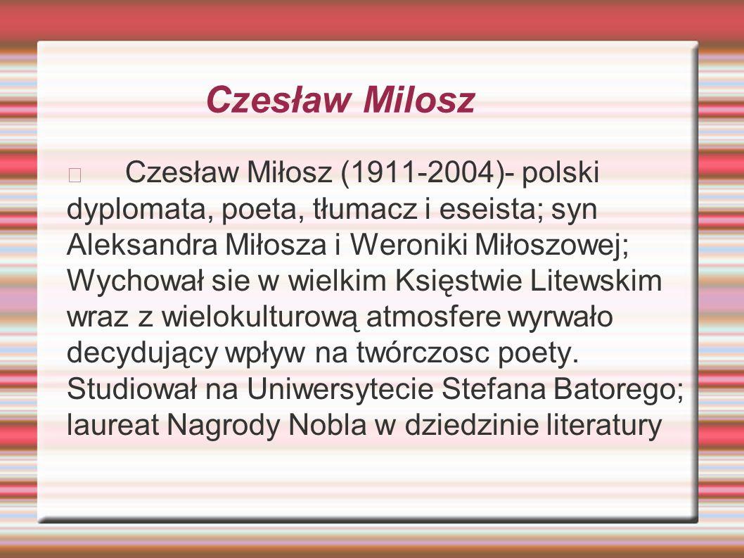 Czesław Milosz