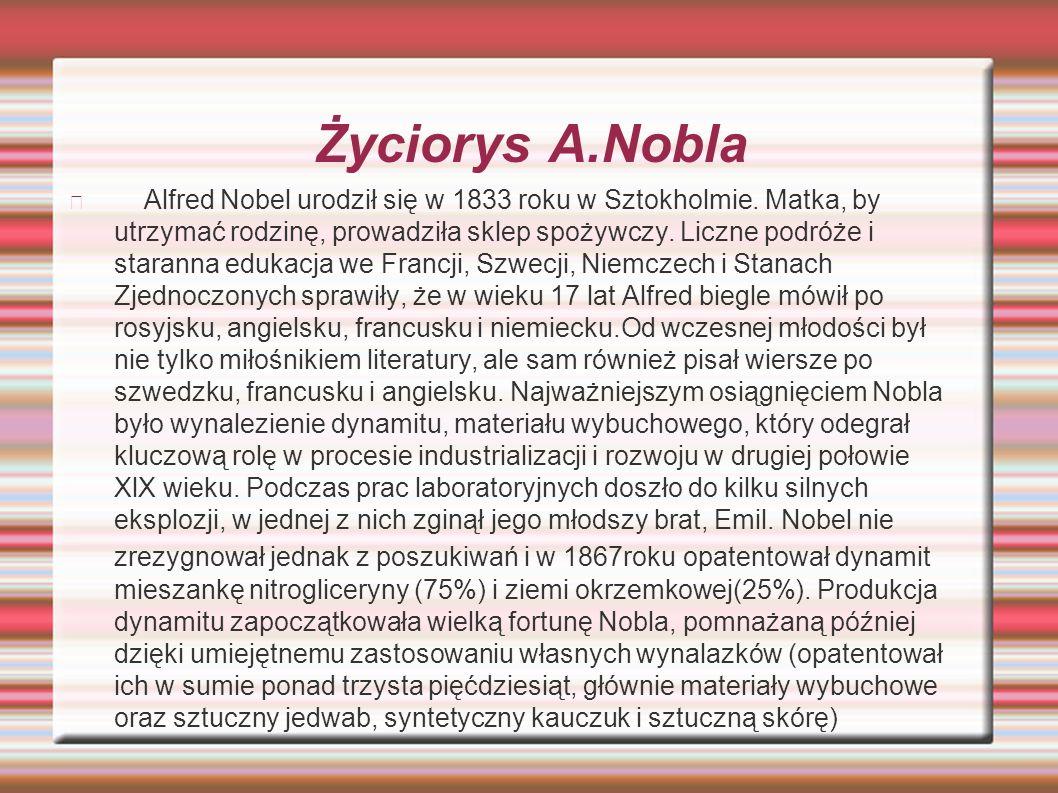 Życiorys A.Nobla