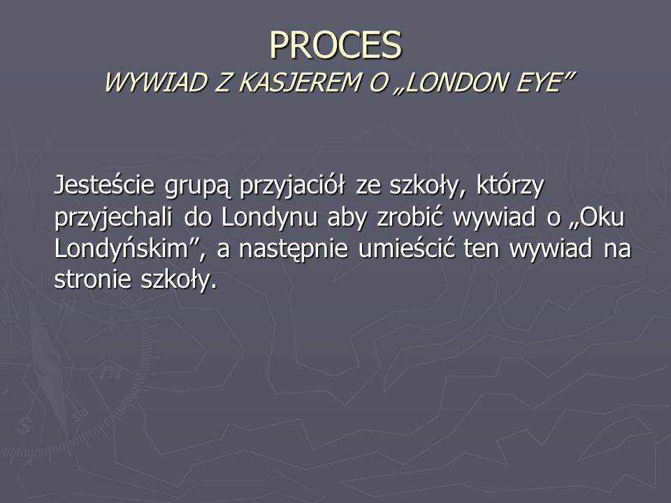 """PROCES WYWIAD Z KASJEREM O """"LONDON EYE"""