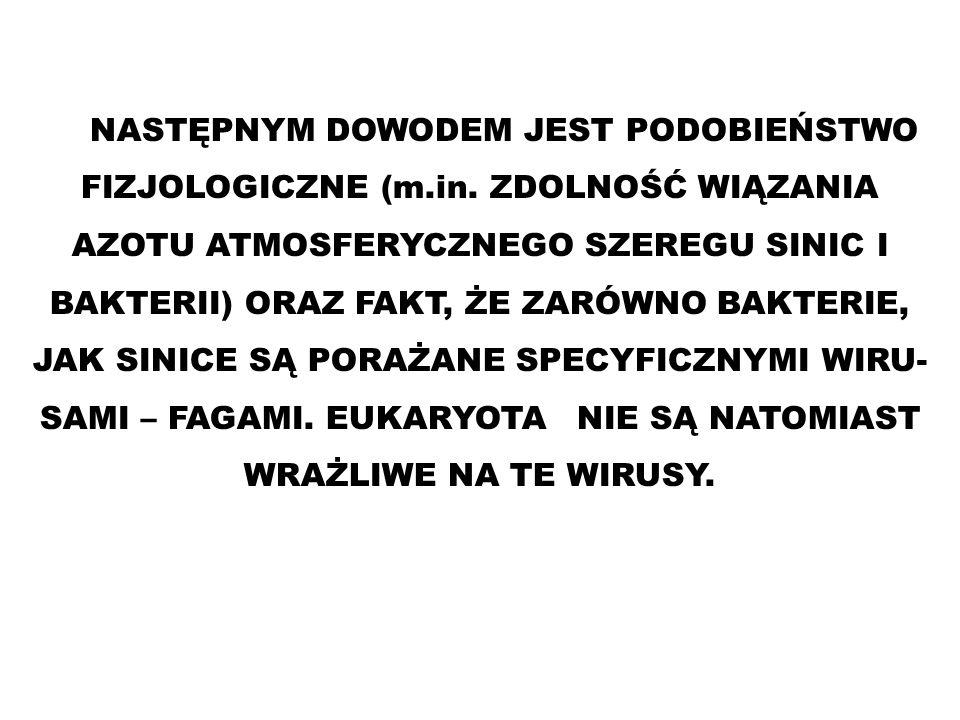 NASTĘPNYM DOWODEM JEST PODOBIEŃSTWO FIZJOLOGICZNE (m. in