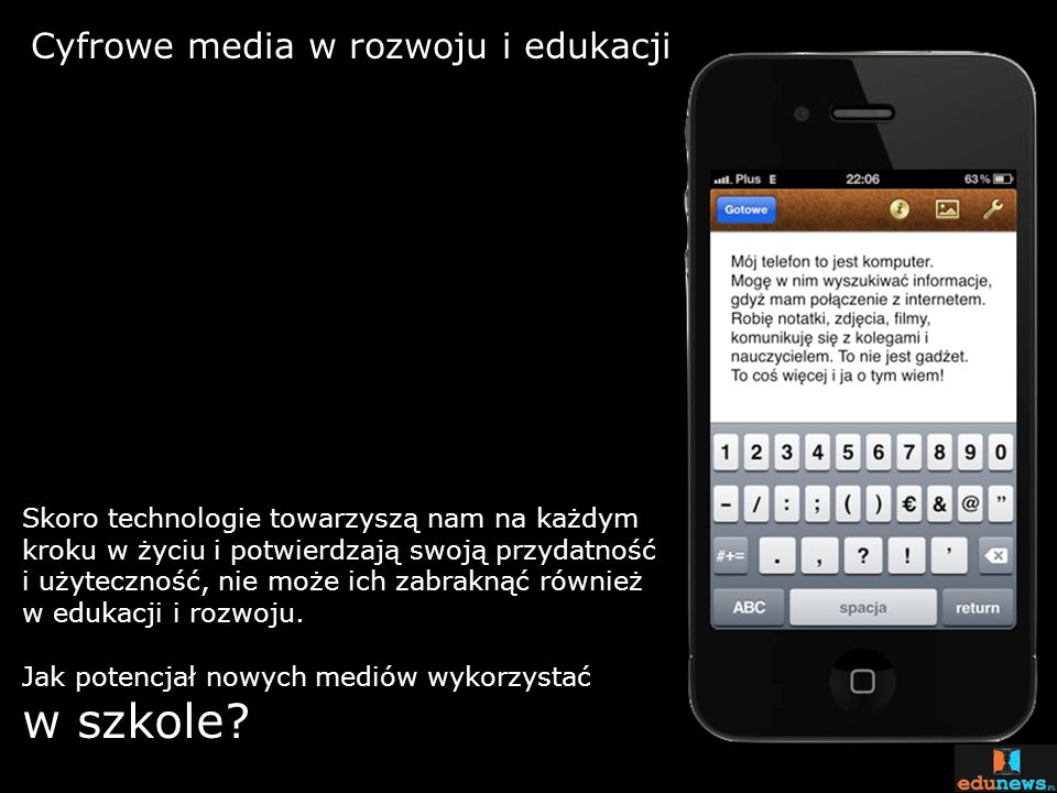 w szkole Cyfrowe media w rozwoju i edukacji