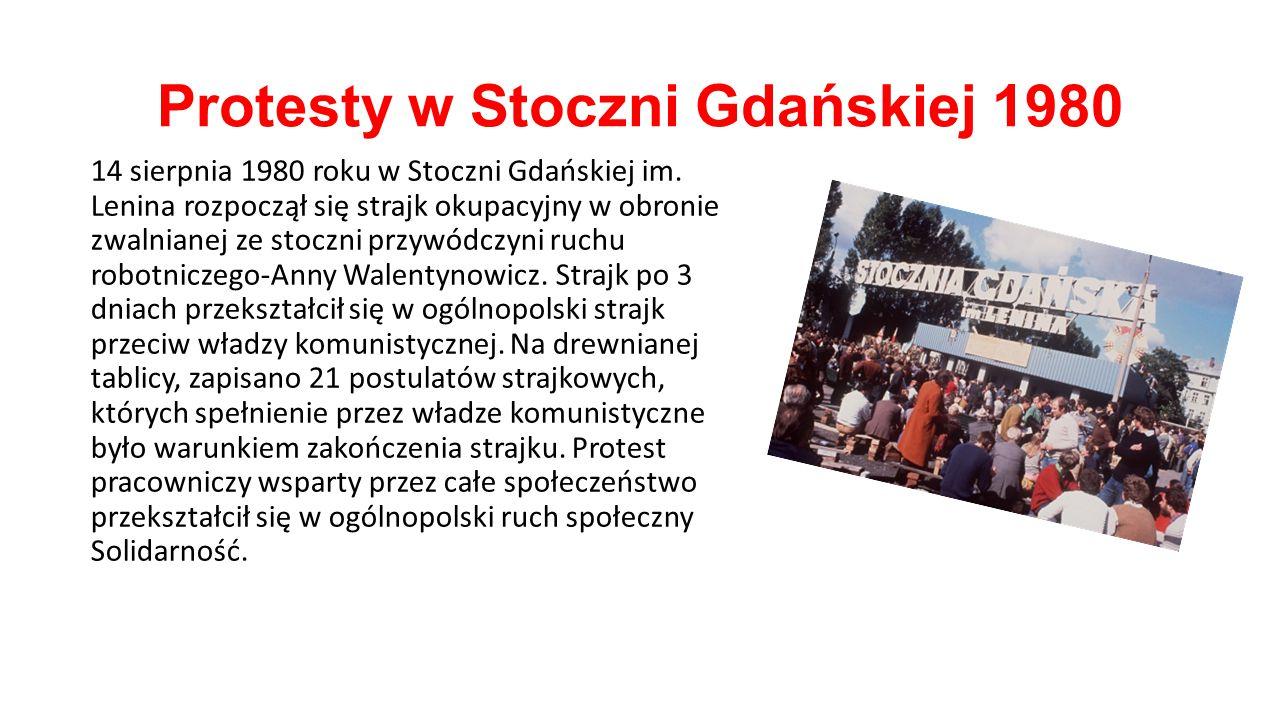 Protesty w Stoczni Gdańskiej 1980