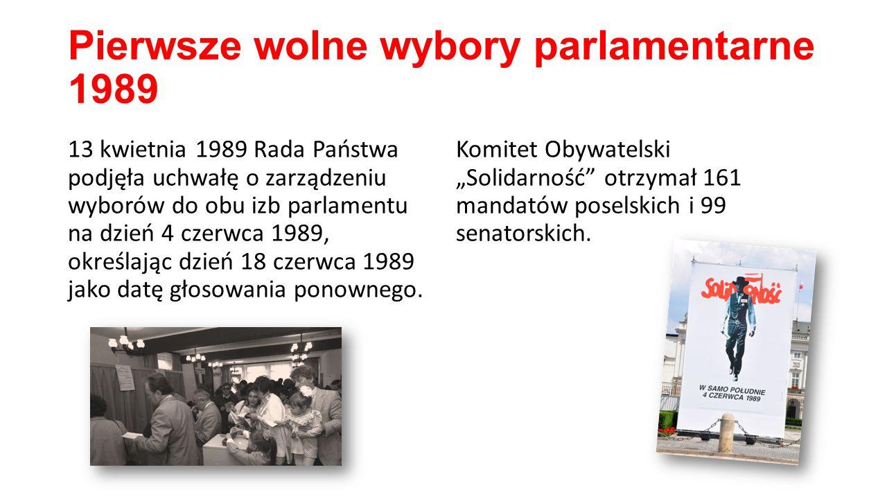 Pierwsze wolne wybory parlamentarne 1989