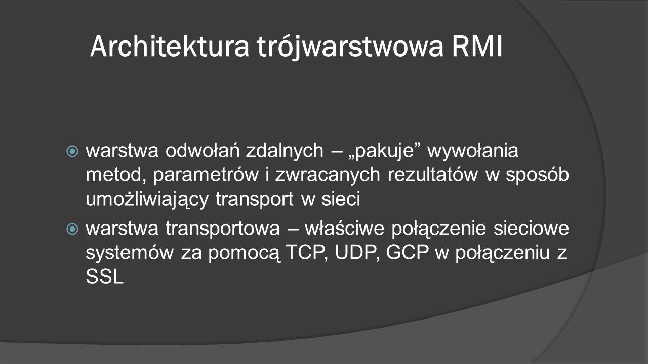 Architektura trójwarstwowa RMI