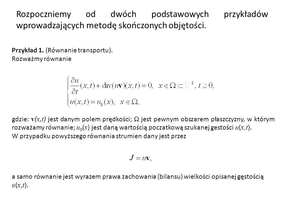 Rozpoczniemy od dwóch podstawowych przykładów wprowadzających metodę skończonych objętości.
