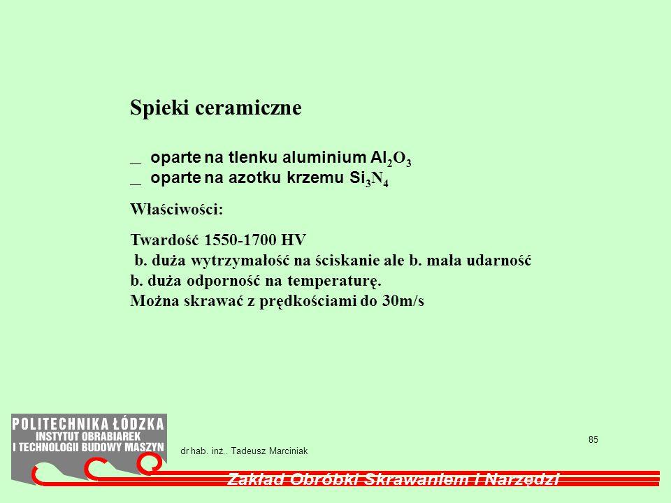 Spieki ceramiczne — oparte na tlenku aluminium Al2O3
